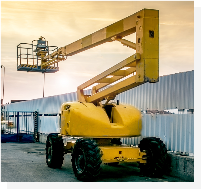 self propelled boom lift hired