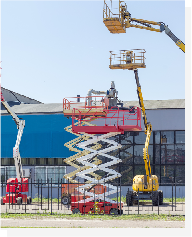Boom Lifts are here! knuckle boom , Straight boom , cherry picker available Via Online Booking Portal