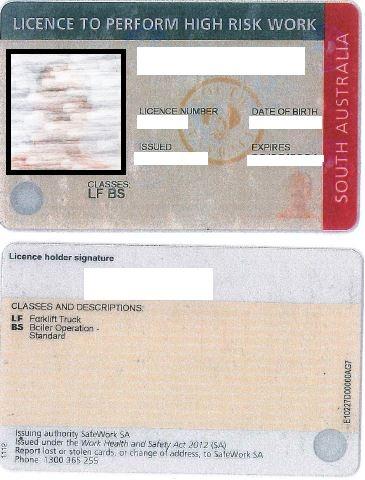 HighRisk Licence SA