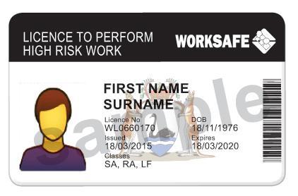 Telehandler Licence SA sample