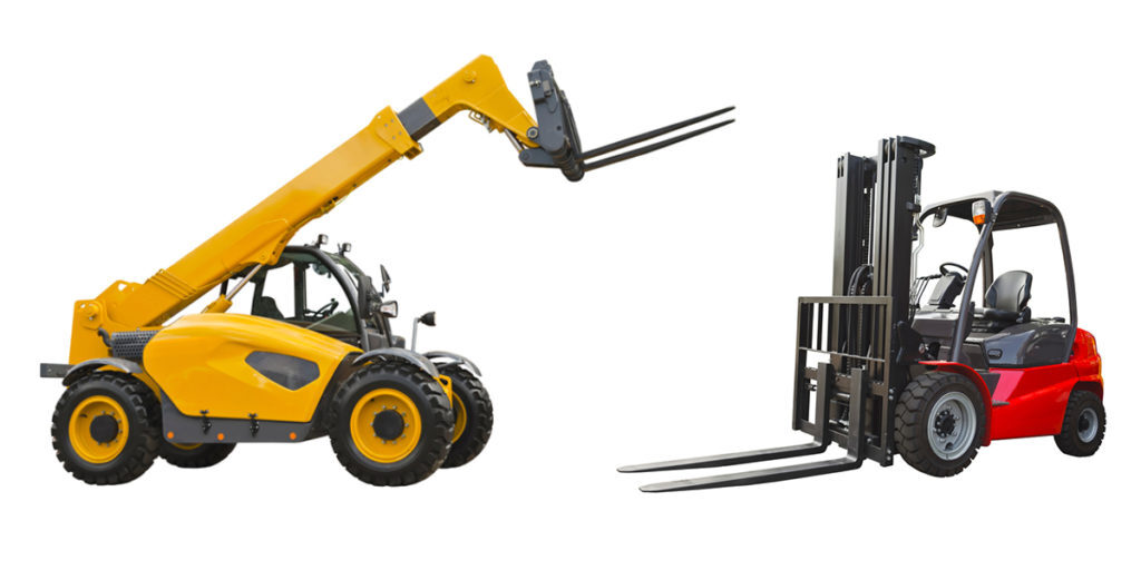 telescopic materials handlers, and forklifts trucks